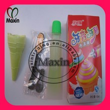Squeeze Jelly with Toothbrush Shaped Candy and Ice Cream Cone