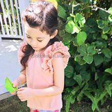 Pinkideal girl's clothes T-shirt 2015 summer new Korean girls' cotton casual T-shirt