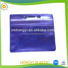 exquisite PVC Business ID Badge Card Holder/ purple plastic case