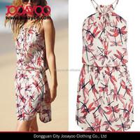 HOT Summer Women Printted Shoulder-straps Sundress Short Beach Dress