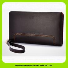 15694 Graceful style genuine men travel leather wallet