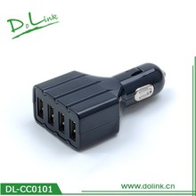 4 Ports 9.6A Car Charger,48W With Intelligent Current Recognition Technology,Rapid Charging Speed,For iPhone