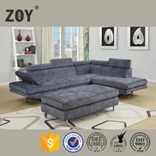 Modern Living room Furniture Fabric Corner Sofa Designs, Small L Shaped Sofa 97820