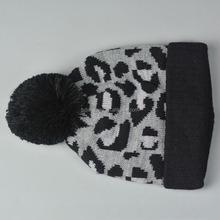 2015 new fashion color fur hat with pompom letter jacquard men beanie hat
