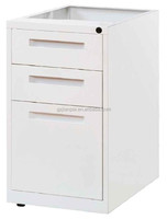 China Supplier 2014 Hot-sale Morden Steel File Cabinet beneath Work Station/3 Drawers Fixed Pedestal