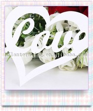 Laser Out Heart Table Place Card For Wholesale