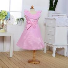 Whoelsale vestido da menina flor rosa bebê fantasia roupas de menina