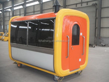 Mobile food cart with wheels,China street food vending cart for sale
