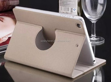 2015 new arrival Golden Sands rotating leather case for iPad Air