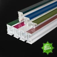 80 sliding co extrusion color window door frame section plastic PMMA pvc profile