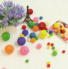 Christmas Decoration ,Various of Willow ball, Colorful wicker ball
