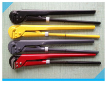 90 bent type pipe wrench for sale ,carbon steel pipe wrench
