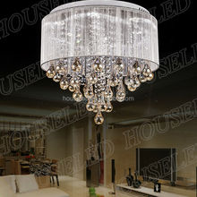 A new goods tempered glass led chandelier changing color