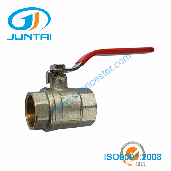 Chrome-plated brass long stem ball valve with key