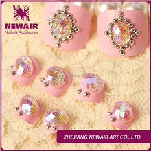 Luxury fashion artificial nails toe tips nail art supplies