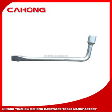 L type wheel nut wrench with screwdrive