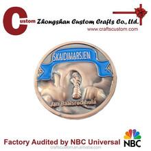 Custom 3d diy lapel pin/antique metal badge