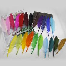 Logo feather pen & goose quill feather pen mini feather pen