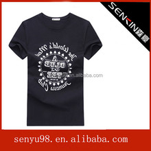 2014 Summer Hot Sale Mens Plain Black T Shirt With Custom Design Made of 100% Cotton