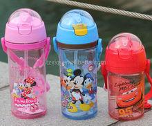 400ml 600ml hot sell plastic kids water bottle/sport bottle with straw