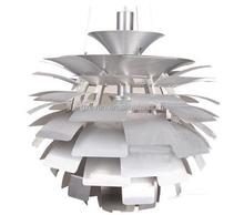 European Stylel PH Artichoke Pendant Light Simplicity Aluminum 40/82/60CM Pendant Lamp Hanging Lighting Home Decoration White