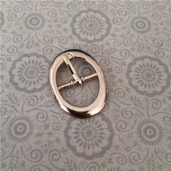 oval side release buckle for shoe