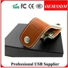 Palpal,Free LOGO,rápida velocidad de funda de cuero usb flash drive precio al por mayor para regalo de empresa