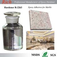 Clear epoxy hardener R-2263 for Stone repairing epoxy /color sand flooring/ epoxy AB glue