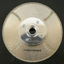 Continuous Rim Electroplated Diamond Saw Blades with Wear Bars for Porcelain