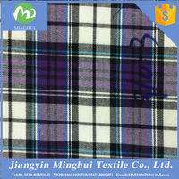 High quality competitive price Chinese plaid shirting yarn dyed cotton fabric for blouse/shirt