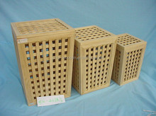 wooden laundry basket,dirty clothes basket -KD