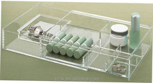 fashion style square clear acrylic makeup storage organizers wholesale