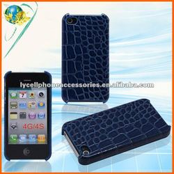 For Apple iphone 4G 4S Accept Paypal Blue Snake High Quality PU Leather Cell Phone Case