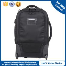 Water-resistance-large grain silk nylon dslr camera bag rolling backpack trolley bag