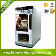 3 hot instant drinks automatic coffee dispenser/coin operated coffee vending machine China Manufacturer
