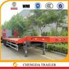 Low bed truck trailer with 9m length and 3m width working plate
