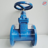 PN10/16 Soft seal gate valve,position indicator gate valve din