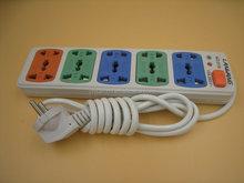 Europe eu 5 way 2-pin power strip with CEE 7/7 plug