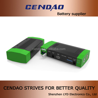 Start battery 12V/16V/19V/3A output li-polymer 15000mah power bank jum start battery pack