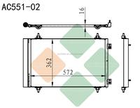 FIAT SCUDO II air conditioner auto condenser