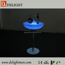 Recharge battery power illuminated bar table/ led tv table/ battery power led used strip club furniture