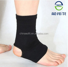 Alibaba express Aofeite high elastic breathable knitted ankle support/ankle brace/velcro ankle strap