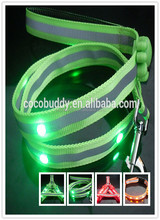 Cheap price usb flash dog collar & leash and harness led webbing 7 colors OEM