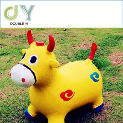 Wholesale PVC Jumping Animal Toy/Hot Sale Kids Jumping Horse/Plastic Kids Spring Rocking Horse