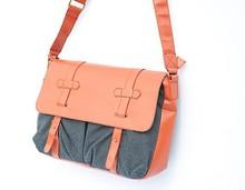 2015 new fashion OEM PU leather messenger bag men