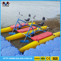 2015 new products amusement rides water bicycle water bike for sale