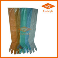 Top Quality HDPE/LDPE Disposable Veterinary Long Sleeve Gloves