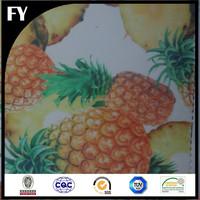 Factory custom high quality digital pineapple print fabric