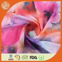 2014 New floral style digital effect bulk chiffon fabric