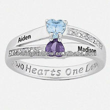 name carved rings